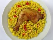 """Arroz con Pollo (spanisch für """"Reis mit Huhn"""")"""