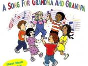 English: The CD cover for A Song for Grandma and Grandpa by Johnny Prill Music.