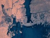 NASA satellite image of Aswan High Dam