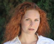 Woman with natural red hair