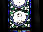stained glass window honoring Mississippi civil rights workers murders, Sage Chapel, Cornell University
