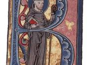 Henry became a Cistercian under the influence of Bernard of Clairvaux, shown here in a 13th century illuminated manuscript.