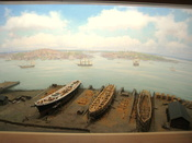 Diorama of Donald McKay's Shipyard (East Boston, July 1852) in Museum of Science, Boston, Massachusetts, USA. Note that there was no prohibition against photography in the museum.