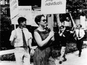 English: Barbara Gittings picketing the White House in 1965, photo taken by Kay Tobin Lahusen