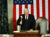 Former Yorkville teacher Dennis Hastert, as Speaker of the House.