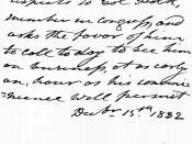 English: Letter of United States President Andrew Jackson to James Knox Polk (future President)