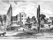 English: Engraving of the site of Villanova University in 1849