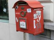 English: Mailbox with anti-abortion messages Antwerpen.