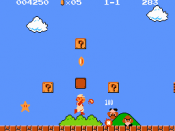 Mario in Super Mario Bros., one of the first games he starred in.