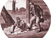 Simon Legree and Uncle Tom: A scene from the abolitionist novel, Uncle Tom's Cabin