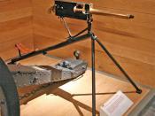 1895 .303 tripod mounted Maxim machine gun. Photo: Max Smith