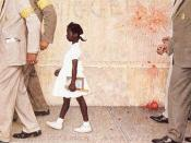 The Problem We All Live With by Norman Rockwell, depicting Bridges as she goes to school