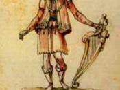 English: Composer Jacopo Peri in his performance costume of Arion in the 5. intermedio of La Pellegrina (1589).