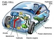 English: Cutaway illustration of a fuel cell car
