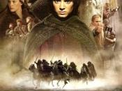 Film poster for The Lord of the Rings: The Fellowship of the Ring (film) - Copyright 2001, New Line Cinema