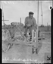 Parker, Arizona. Henry Chappo, a Chemehuevi Indian. Colorado River Indian Reservation is site of o . . . - NARA - 536272