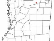 Eupora, Mississippi location map; created with the GIMP. Made by User:Acntx. Adapted from Wikipedia's Mississippi County Maps.