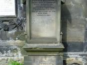 English: Grave of Thomas De Quincey, St. Cuthbert's Kirk, Edinburgh