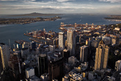 English: Auckland (New Zealand) CBD view from the Sky Tower.