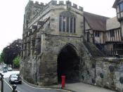 The West Gate and St James's Chapel - Warwick