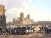 Fall of Mexico City during the Mexican-American War, painting by Carl Nebel.