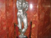 Art-deco statue Eve by Gwen Lux, in the lobby of Radio City Music Hall, Manhattan, New York City