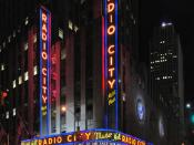 English: Radio City Music Hall at Rockefeller Center in New York City