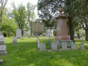 English: Gravesite of George Rogers Clark at Cave Hill Cemetery in Louisville, Kentucky.