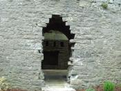 English: Doorway ? Whether it was originally a door into the keep I do not know, but it is now used as one.
