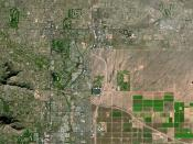 East part of Phoenix (on the left) and Scottsdale, Arizona (on the right) by SPOT Satellite.