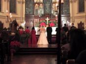 Wedding ceremony, Christ Church Cathedral, New Orleans.