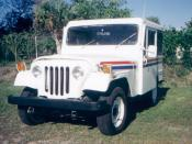 English: A USPS Mail Delivery vehicle made by Jeep
