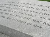 John F. Kennedy quotation