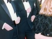 Steven Spielberg on the red carpet at the 62nd Annual Academy Awards, 3/26/90