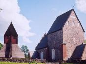The Gamla Uppsala Church, the site of the Uppsala bishops and archbishops until 1273.
