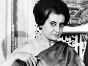 English: Indian Prime Minister Indira Gandhi (1917-1984) at the National Press Club, Washington, D.C. 1n 1966