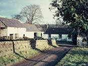 English: Ellisland Farm Robert Burns,(1759-96) farmed here from 1788 until 1791 and wrote his famous poem, 'Tam O' Shanter' and 'Auld Lang Syne' whilst here.