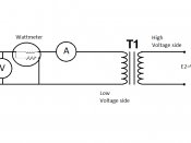 English: The watt meter, ammeter and voltmeter are connected as shown in the circuit.