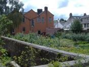 English: Wordsworth's Childhood Garden The rear elevation of Wordsworth House, Cockermouth