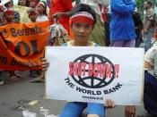 English: World Bank Protester, Jakarta Indonesia.