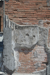 English: Plaster in Pompeji. Deutsch: Putz in Pompeji.
