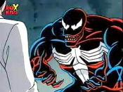 Venom as he appears in Spider-Man: The Animated Series.