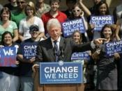 Former President Bill Clinton campaigning for Barack Obama at the UCF Arena in October 2008.