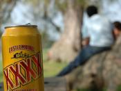 XXXX on a park bench
