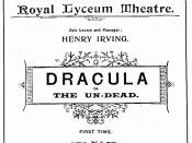 English: Original program for the May 18, 1897 Lyceum Theatre production of Bram Stoker's play Dracula, or The Undead