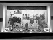Binns Ltd., Newcastle window display 1960