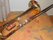 Tenor trombone with a Bb-F trigger valve