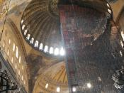 English: The dome of Hagia Sophia in Istanbul, seen from the inside.