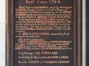 Ramsay House: Text on the Wooden Plaque