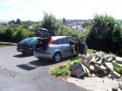 English: Paignton : Small Car Parking Space A place for Residents to park on Southfield Road.